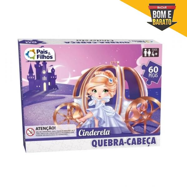 QUEBRA CABEÇA CINDERELA 60 PEÇAS