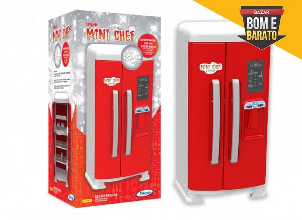 Refrigerador Infantil Mini Chef Vermelho