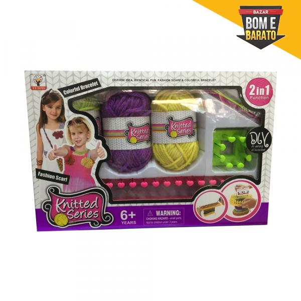 Kit de tricô infantil pequeno