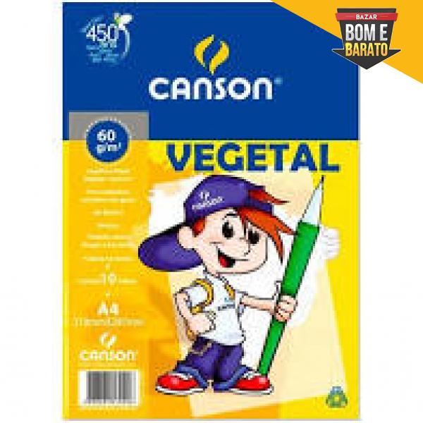 PAPEL VEGETAL A4 CANSON 60G/M 10 FOLHAS
