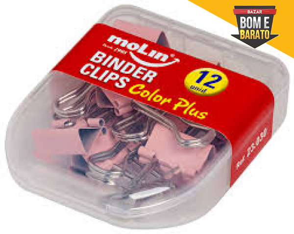 BINDER CLIPS COLOR PLUS 12 UNIDADES