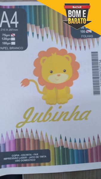 FOLHA A4 COM 100 FOLHAS JUBINHA