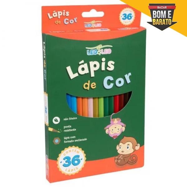 LÁPIS DE COR  36 CORES LEO&LEO