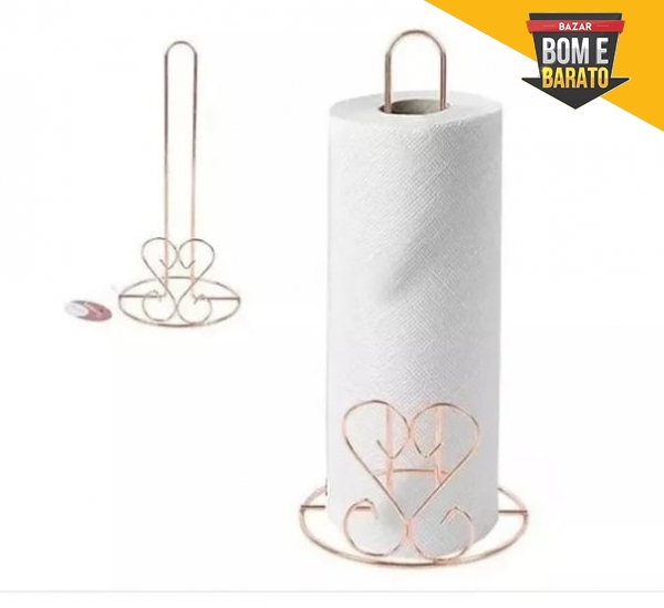 PORTA PAPEL TOALHA ROSE GOLD