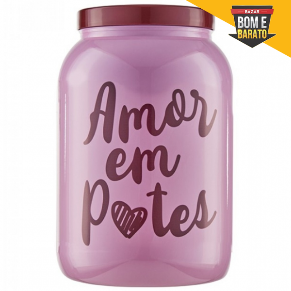 POTE ROSA AMOR EM POTES 1,7L