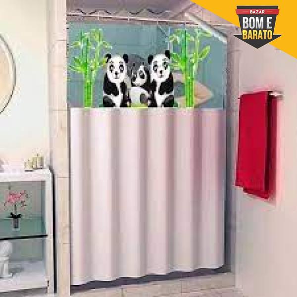 CORTINA DE BOX COM VISOR PANDA