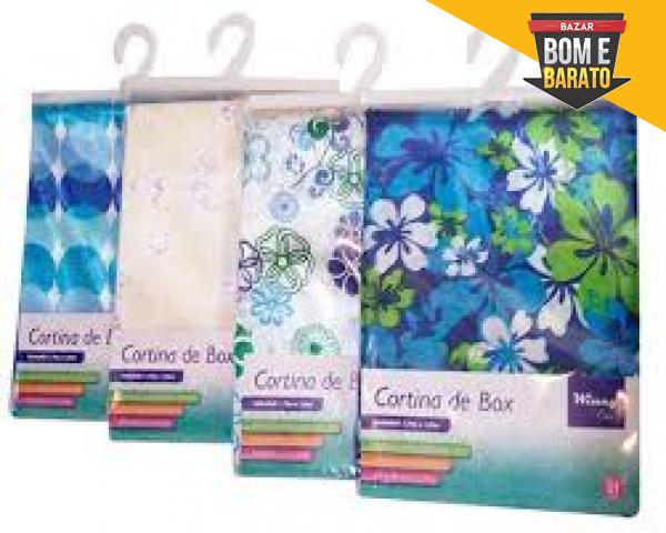 CORTINA PARA BOX COM GANCHOS REVESTIDOS