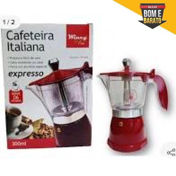 CAFETEIRA ITALIANA ALUMINIO / VIDRO 300ML