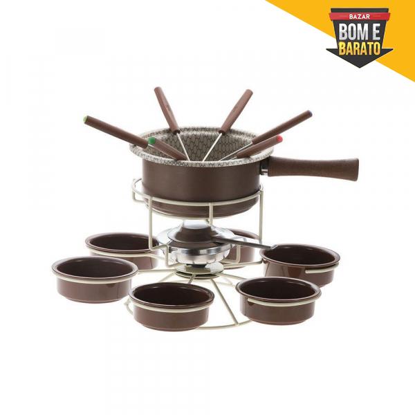 Aparelho de Fondue Chocolate Antiaderente Carrousel 15 peças Forma