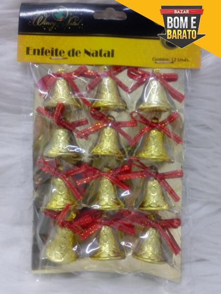 ENFEITE DE NATAL SINO C/12UN