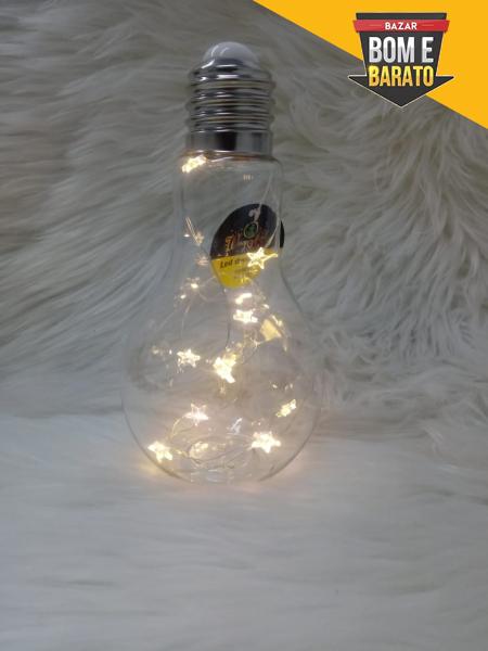 ENFEITE LAMPADA DECORADA C/10LEDS