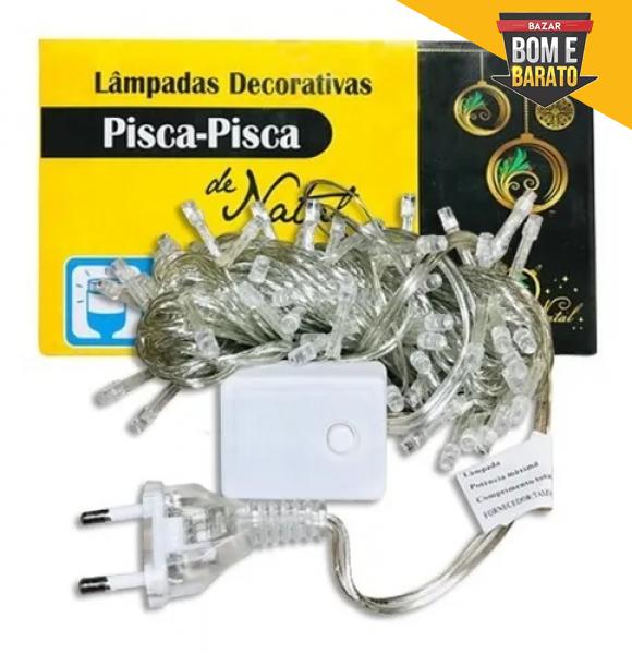 PISCA 100LED BRANCO QUENTE